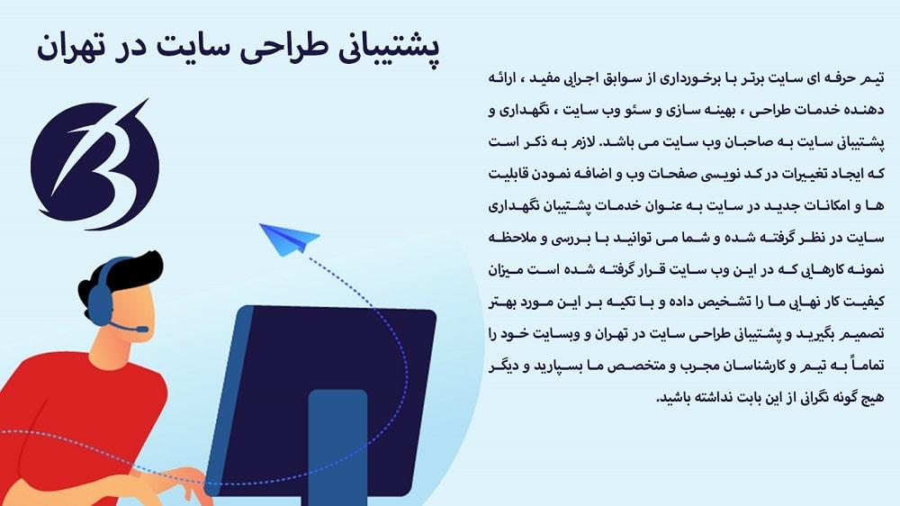 طراحی سایت در تهران - تصویر صفحه