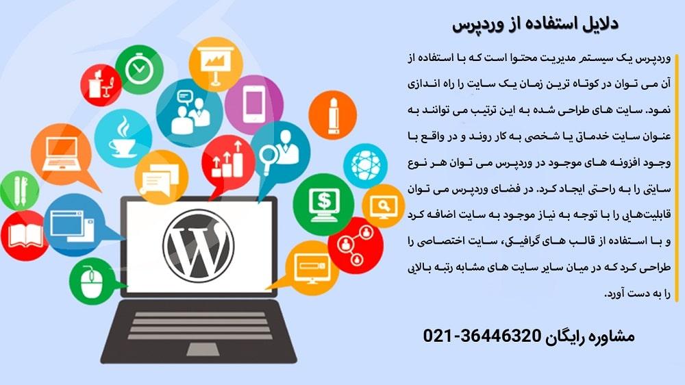طراحی انواع سایت با استفاده از وردپرس - تصویر نوشته
