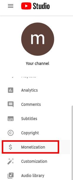 سربرگ Monetizaiton در یوتیوب برای کسب در آمد