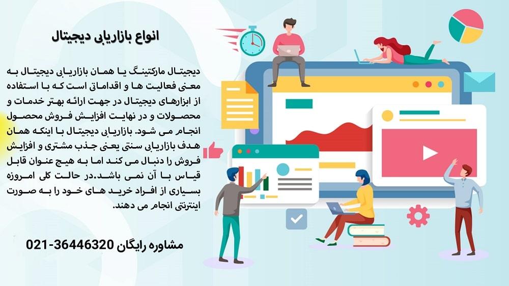 کاربردی ترین و مهم ترین انواع بازاریابی دیجیتال